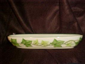 Franciscan ivy, oval relish dish, green trim,California
