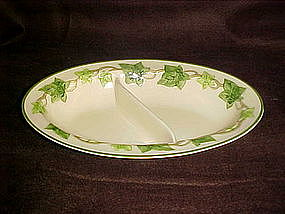 Franciscan Ivy oval divided vegetable bowl, GMB