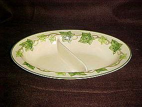 Franciscan Ivy oval divided vegetable bowl, GMB