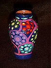Miniature hand painted pottery vase, Mexico?