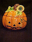Jack-o-lantern cookie treat jar, Halloween