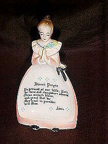 Enesco pink prayer ladies spoon rest, dinner prayer