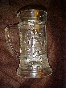 Tiara clear beer mug, by Indiana Glass