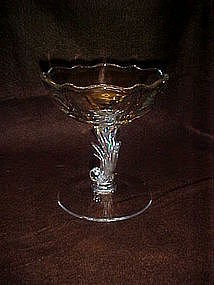 "Fostoria  crystal Baroque 4 3/4"" comport"