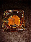 Del Webb's Mint casino and hotel ashtray, amber