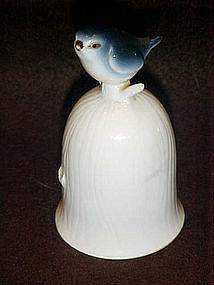 Bone china bluebird bell