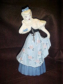 Weil Ware of California large figurine, blue dress