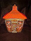 California Originals schoolhouse and elves cookie jar