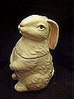 Large white life size rabbit cookie jar