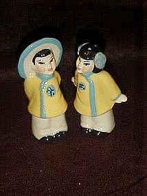 Ceramic Arts Studio Japanese boy and girl shakers