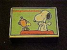 Vintage Peanuts Snoopy Matchbox, Congratulations