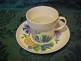 Noritake Hawaiian Holidays cup and saucer, Hula pattern