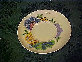 Noritake Hawaiian Holidays saucer, Hula pattern