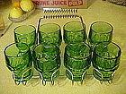 Viking  green georgian tumblers set of 8