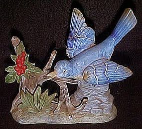 bisque porcelain bluebird figurine