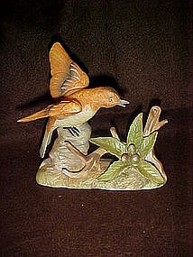 Bisque bird figurine on branches, CIC Korea