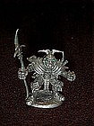 Miniature Ral Partha pewter battle warrior figure, TSR