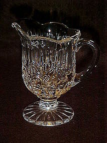 Lead crystal demitasse creamer