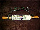 Crock shop, grape vines rolling pin and holder