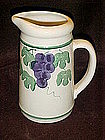 Crock shop juice pitcher, grapes and vines pattern