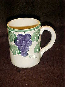 Crock Shop mugs, grapes and vines pattern