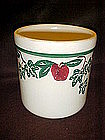 Crock Shop apples and Ivy medium cannister, no lid