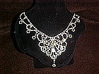 Vintage rhinestone necklace Huge and sparkley