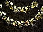 Vintage demi parure rhinestone choker with bracelet
