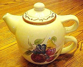 Personal teapot and cup combo, around the orchard