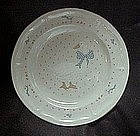 Aunt Rhody blue goose dinner plate, Brick Oven