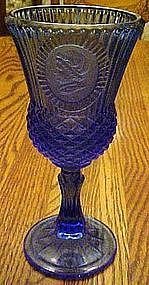 Avon Fostoria Mt. Vernon Martha Washington blue goblet