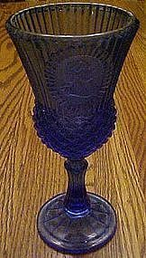Avon Fostoria Mt. Vernon George Washington blue goblet