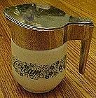 Gemco Pyrex crazy daisy, green cream pitcher