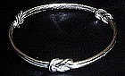 Monet silver knot bangle bracelet