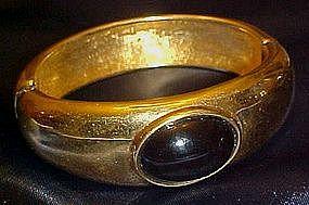 Vintage gold tone Monet hinged bracelet