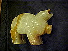 Mexican  onyx  pig, hand crafted