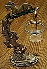 Wild horses, pewter candle holder