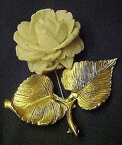 Accessocraft NYC vintage rose pin
