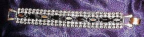 Vintage aurora rhinestone bracelet with black marquise