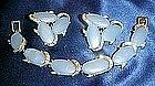 Vintage Kramer Demi Parure blue bracelet  / earrings
