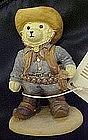 Bears around the world United States resin figurine