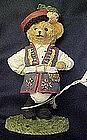 bears around the world, Poland resin figurine
