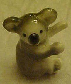 Miniature koala bear figurine, bone china