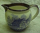 Antique Lancaster Sandlanc creamer with blue transfer