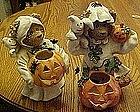Adorable Teddy bear ghost illuminaries, pair