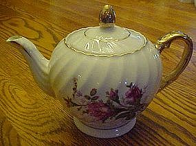 Vintage moss rose tea pot