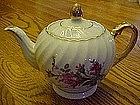 Vintage moss rose tea pot