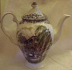 Johnson Brothers Heritage hall coffee pot and lid
