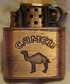 Camel brushed copper lighter
