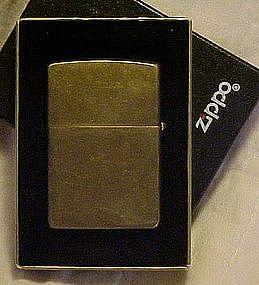 Zippo XI  brass lighter, original box with guarantee